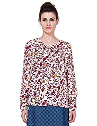 Folklore Women's Tunic Top (FOTP000174_Maroon_Small)