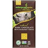 Endangered Species - Dark Chocolate Bar with Hazelnut Toffee 72% Cocoa - 3 oz.
