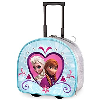 Amazon.com: Disney Store Frozen Princess Elsa and Anna Rolling Luggage