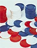 Plastic White Poker Chips Card Game (Bag of 100)