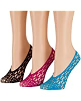 Tipi Toe Women's 6 or 12 Pack Colorful Lace Foot Liners
