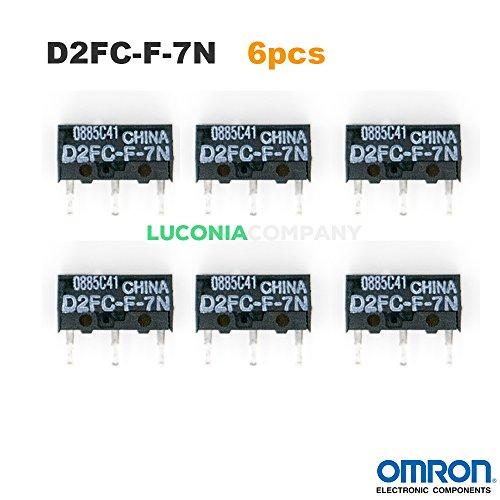 6-confezione da OMRON d2fc - f-7n Authentic Micro Interruttori con microinterruttori interruttori per RAZER Logitech APPLE MS Mouse