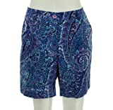 Jones New York Paisley Stretch Shorts