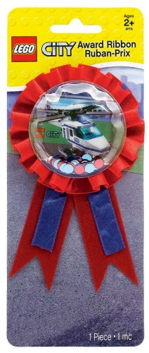 Amscan Mens LEGO City Confetti Pouch Award Ribbon Blue Medium - 1