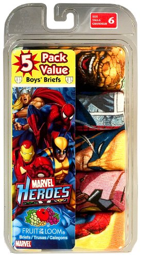 Fruit of the Loom Boys  5 Pack Marvel Heroes Briefs