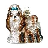 Old World Christmas Shih Tzu Glass Blown Ornament