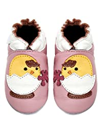 Momo Baby Infant/Toddler Chick Soft Sole Leather Shoes