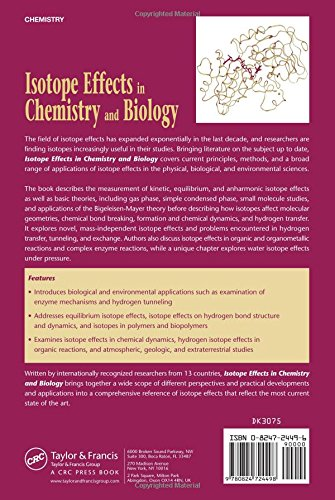 Isotope Effects In Chemistry and Biology CRC Press