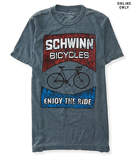 Aeropostale Men's Schwinn Graphic T Shirt 2Xl Charcoal Heather Grey