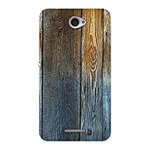 Stylish Wall Bar Wood Back Case Cover for Sony Xperia E4