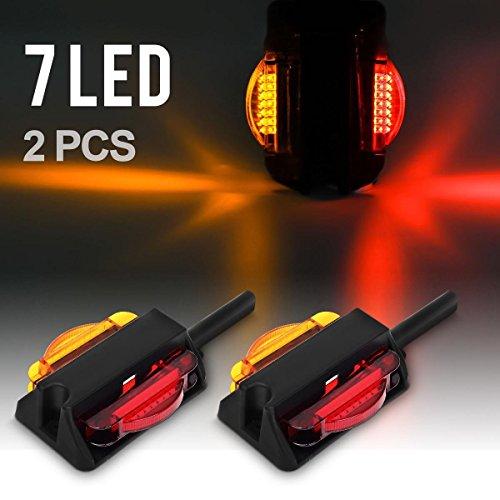 Partsam LED Trailer Fender Light Set - Dual Face LED Marker Clearance Lights Assembly (Fenders Trailer compare prices)