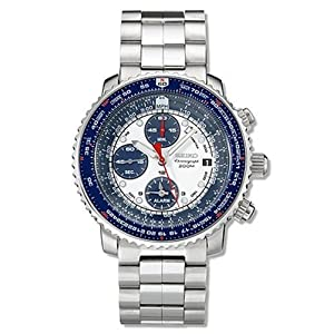 Click to buy Seiko Watches for Men: SNA413 Flight Computer Chronograph Watch from Amazon!