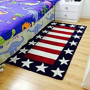 rug blue modern living room carpet soft floor rugs for boys 5x7