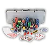 "Ultimate Pokerset mit 500 hochwertigen 12 Gramm Metallkern Laserchips, inkl. 2x Pokerdecks, Alu Pokerkoffer, 5x W�rfel, 1x Dealer Button,, Poker, Set, Pokerchips, Koffer, Jetonsvon ""Maxstore"""