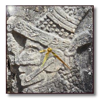 Dpp_46126_2 Vwpics Mexico - Wall Detail, Juego De Pelota, Ball Court, Chichen Itza Archaeological Site, Yucatan State, Mexico - Wall Clocks - 13X13 Wall Clock