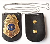 "CTU Jack Bauer badge, from the TV show ""24"" with leather backing, Novelty FOR COLLECTING PURPOSES ONLY!!!"