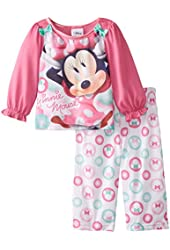 Disney Baby Girls' Minnie Mouse Bows and Bubbles 2 Piece Pajama Set