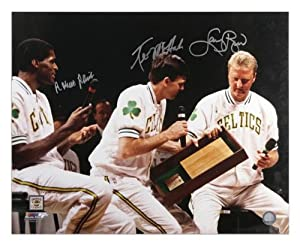 Boston Celtics Bird, McHale, and Parish Autographed 16 x 20 Photo - Memories -... by Sports Memorabilia