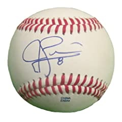 Jed Lowrie Autographed Signed ROLB Baseball, Oakland Athletics, Boston Red Sox,...