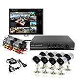 ZMODO 8 CH CCTV Security Weatherproof Outdoor IR Cameras Surveillance DVR System 500GB