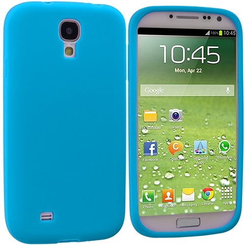 Cell Accessories For Less (Tm) Baby Blue Silicone Soft Skin Case Cover For Samsung Galaxy S4 - By Thetargetbuys
