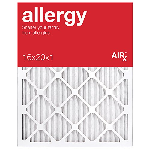 AiRx ALLERGY 16x20x1 Air Filters for Allergy Protection - Box of 6 - Pleated 16x20x1 MERV 11 Air Filters, AC Filters, Furnace Filter - Energy Efficient (House Air Filter 20x20x1 compare prices)
