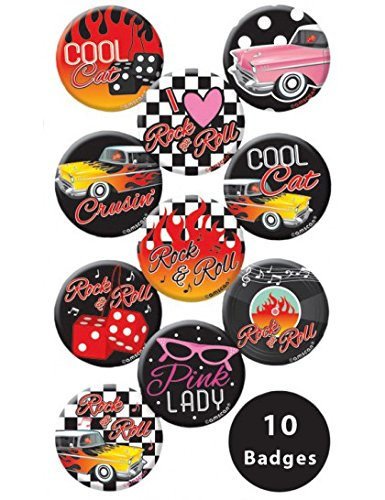 Classic 50's Rock and Roll Buttons
