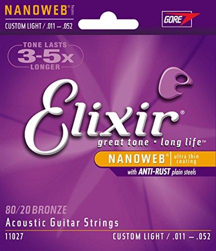 Elixir CEL 11027 Corde pour Guitare acoustique nanoweb cl 11-52
