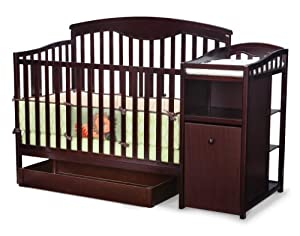Delta Shelby Classic Crib And Changer Espresso Cherry Convertible Cribs Baby