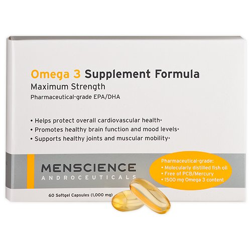 Menscience Androceuticals 3 Month Supply Omega 3 Supplement Formula