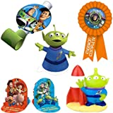 Toy Story 3 Party Decorating Kit Including Centerpiece, Blowouts, Candle, Cone Hats and Award Ribbon