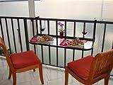 Terrace Table (Black) - Folding Balcony Table Balcony Bar