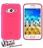 Muzzano Le Glossy Coque souple pour Samsung Galaxy Trend 2 Lite Rose