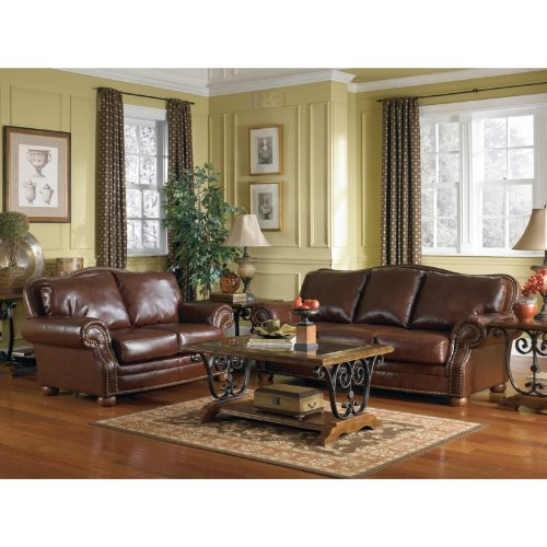 Buy Low Price AtHomeMart Brown Sofa, Loveseat, Chair, and Ottoman Set (ASLY9400038_9400035_9400020_9400014_4PC)
