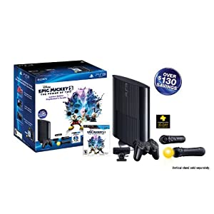 PS3 Slim 250GB Epic Mickey: Power of 2 Bundle (PlayStation 3) by Sony