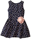 Pippa & Julie Girls 2-6X Crepe De Chine Peach Dot Dress