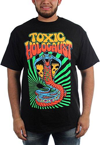 Toxic Holocaust Hola-Maglietta da uomo, motivo Cobra nero Large