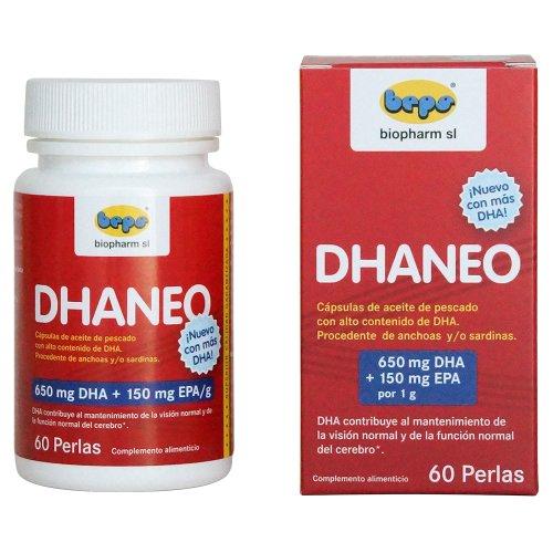 DHANEO - 60 cápsulas de aceite de pescado altamente ricas en DHA
