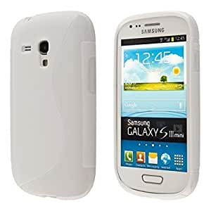 ECENCE Samsung Galaxy S3 mini i8190 i8200 Coque de protection housse case shell blanc 14020405