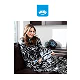 GENUINE JML SNUGGIE SLEEVED BLANKET ONE SIZE FITS ALL AS SEEN ON TV (Zebra)
