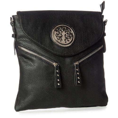Big Handbag Shop Womens Medium Messenger Crossbody Shoulder Bag