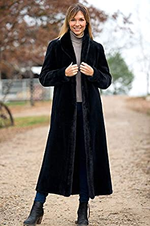 Marietta Reversible Mink Fur Coat, BLACK, Size 2
