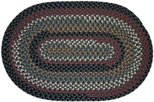 Rhody Rug Plateau Braided Rug, 2 by 3-Feet, Teal