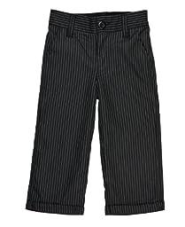 RuggedButts® Infant / Toddler Boys Dress Pants - Black Pinstripe - 3-6m