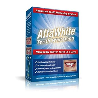 Alta White No Strip or Trays- FAST Teeth Whitener and Polisher/1 month supply