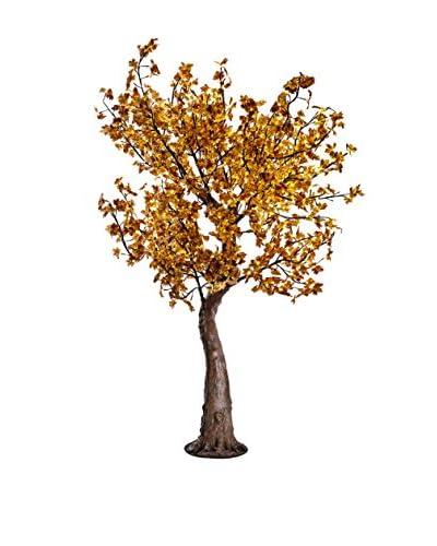 LED Yellow Multi Color Maple Tree, Warm White Bulbs