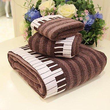 Zy-3-Jacquard-Handtuch-Set-Klavier-Muster-braun-oder-grau-100-Baumwolle-Badetuch-Waschen-Handtuch-und-Handtuch