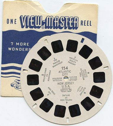 ViewMaster Atlantic City, New Jersey, U.S.A. from 1949 - Classic Original Reel 154