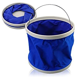 9L Portable Foldaway Water Bucket for Camping/Fishing/Boating (Random Color)