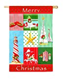 Garden Flag Coastal Christmas Collage Ii